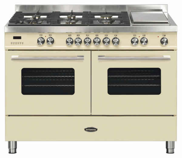 Britannia RC-12TG-DE-CR 544440746 Delphi 120cm Twin Cream Dual Fuel Range Cooker