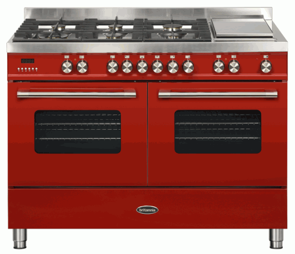 Britannia RC-12TG-DE-RED 544440340 Delphi 120cm Twin Red Dual Fuel Range Cooker
