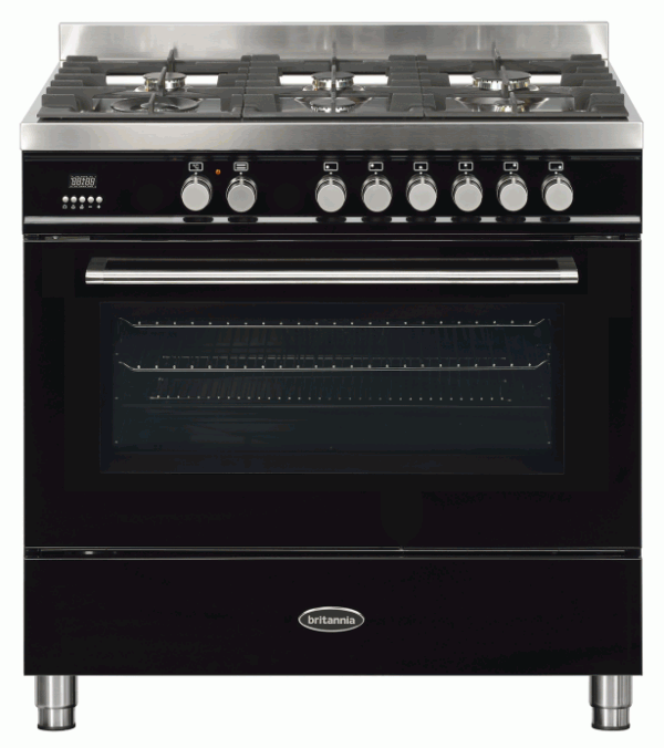 Britannia RC-9SG-QL-K 544440778 Q Line 90cm Single Black Dual Fuel Range Cooker