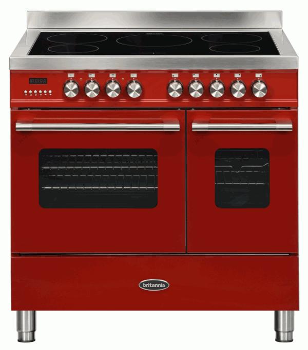 Britannia RC-9TI-DE-RED 544440748 Delphi 90cm Red Induction Range Cooker
