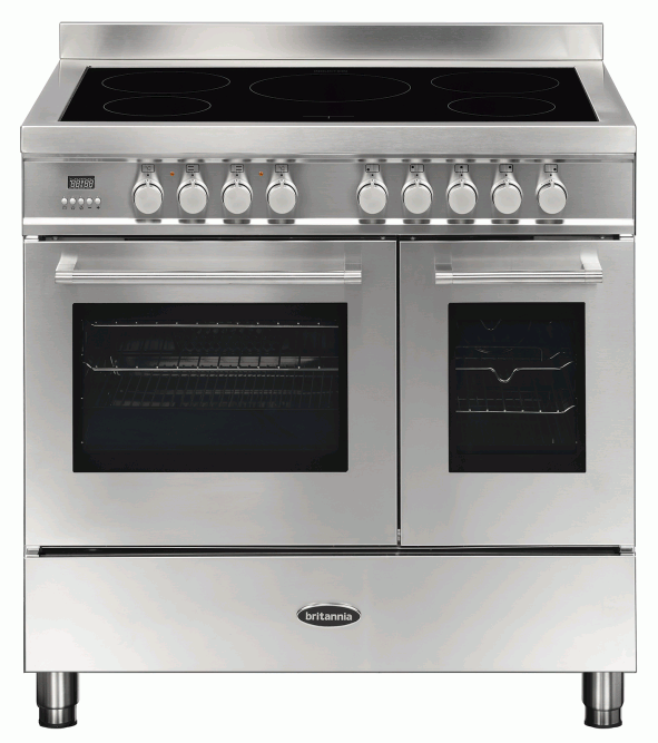 Britannia RC-9TI-QL-S 544440200 Q Line 90cm Twin Stainless Steel Induction Range Cooker