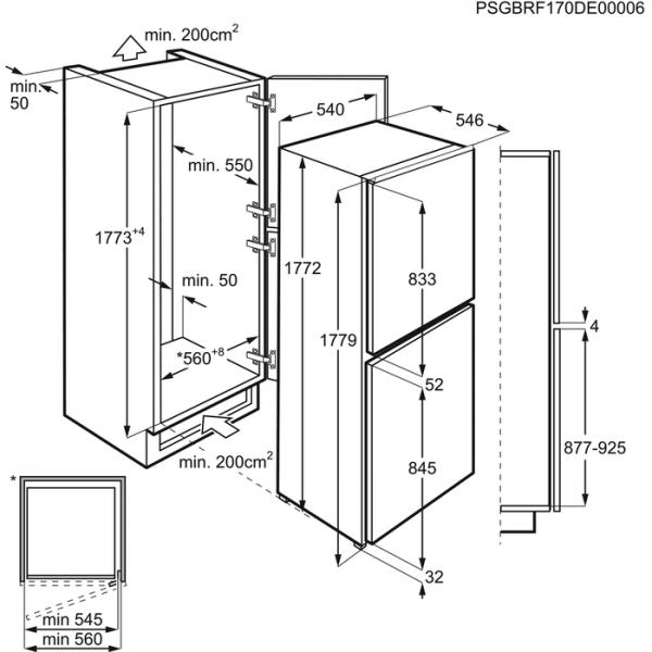 AEG SCE8182XTS Integrated 50/50 Fridge Freezer