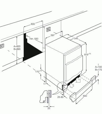 AEG SFB58211AF Integrated Fridge with Ice Box