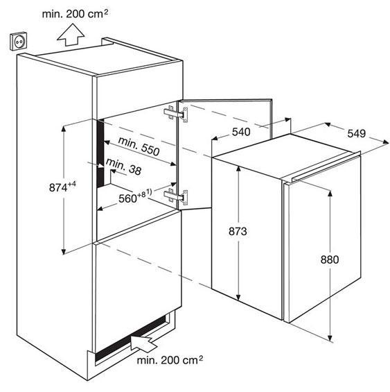 AEG SFE6881VAS Built-In Undercounter Fridge with Ice Box