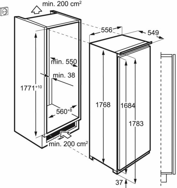 AEG SFE81821DC Integrated Fridge with Ice Box