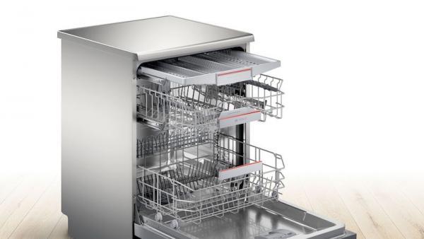 Bosch SMS6ZCI00G 60cm Silver Dishwasher
