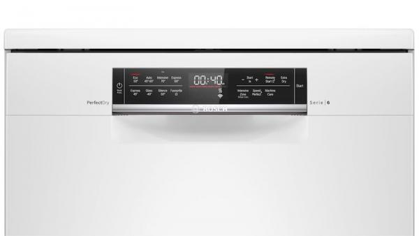 Bosch SMS6ZDW48G 60cm White Zeolith Dishwasher