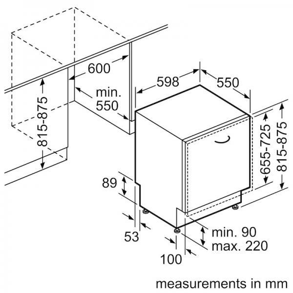 Bosch SMV46KX01E Fully Integrated Dishwasher