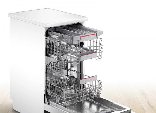 Bosch SPS4HMW53G 45cm Triple Basket Dishwasher