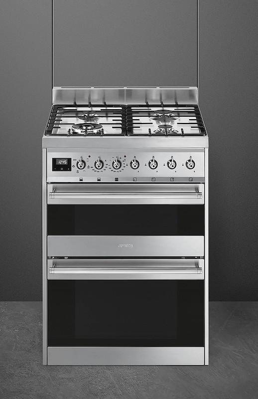 Smeg SY62MX9 Symphony 60cm Dual Fuel Cooker