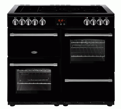 Belling 444444136 100E Black Farmhouse Electric Range Cooker