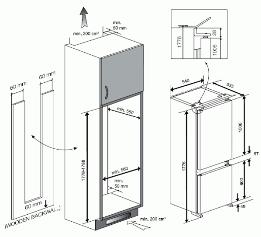 Blomberg KNM4551i Integrated 70/30 Fridge Freezer