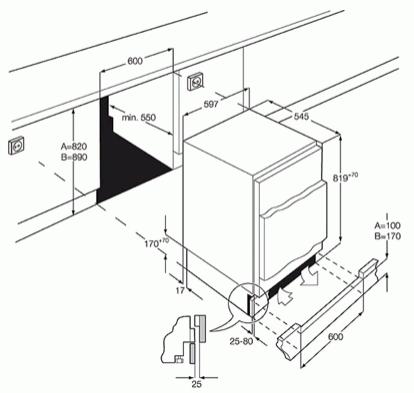 AEG ABE68221AF Integrated Under Counter Freezer