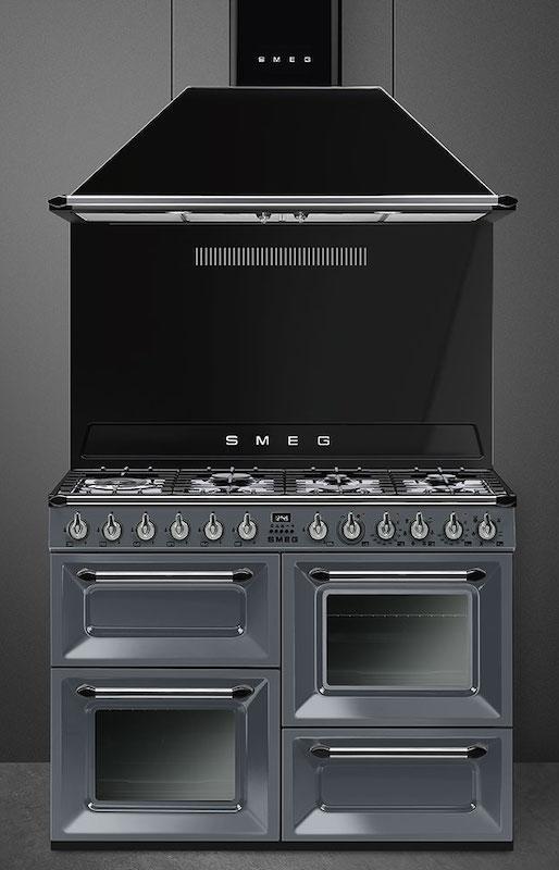 Smeg TR4110GR Victoria 110cm Slate Dual Fuel Range Cooker