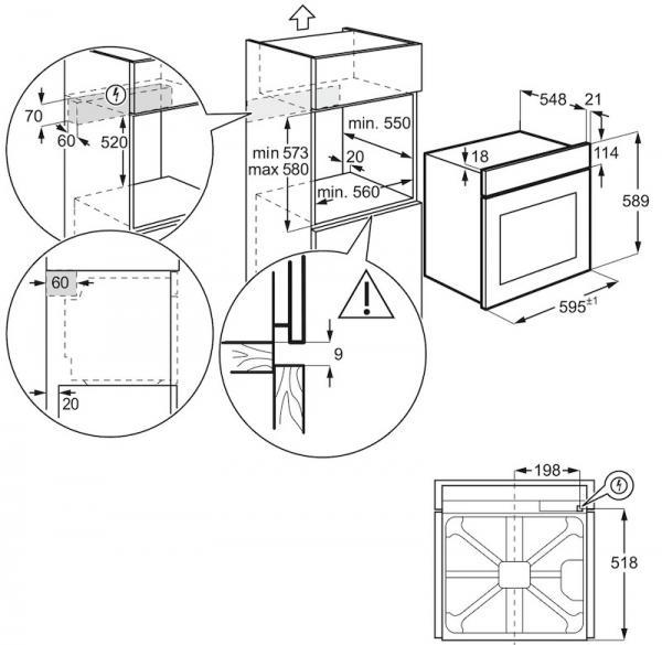 Zanussi Zob31471wk Single Oven