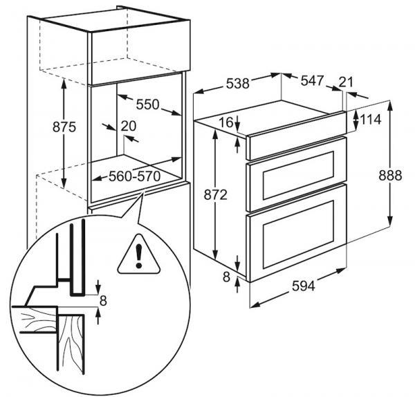 Zanussi ZOD35802XK Double Oven