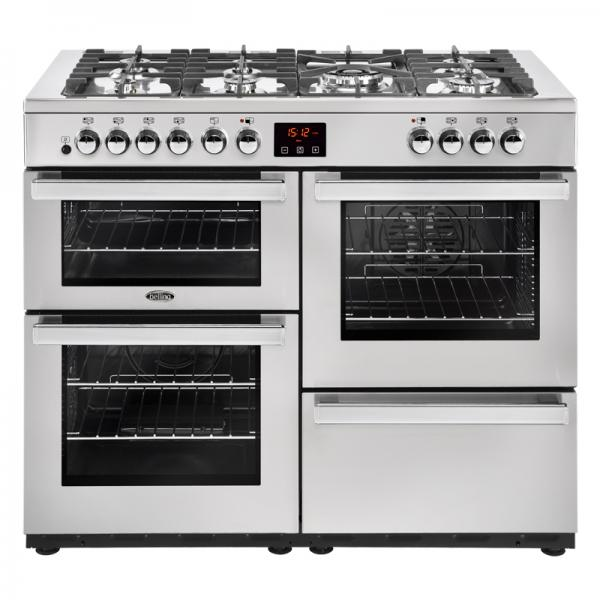 Belling 444444093 110DFT Professional Stainless Steel Cookcentre Dual Fuel Range Cooker