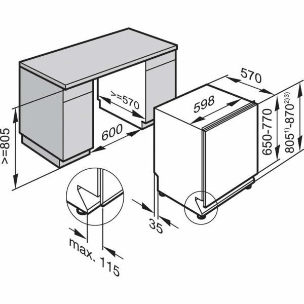 Miele G 4263 Vi / G4263Vi Twin Basket Integrated Dishwasher