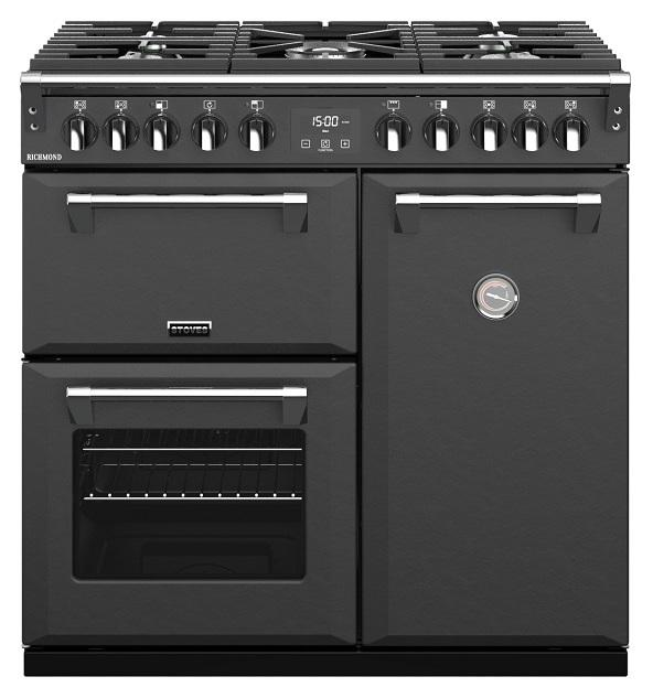 Stoves 444410252 S900DF Richmond 90cm Anthracite Dual Fuel Range Cooker