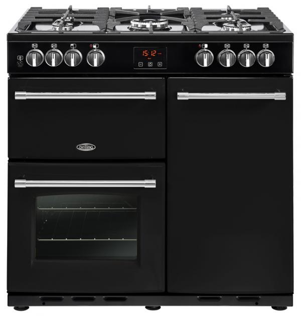 Belling 444444121 90DFT Black Farmhouse Dual Fuel Range Cooker (Cancelled Order)