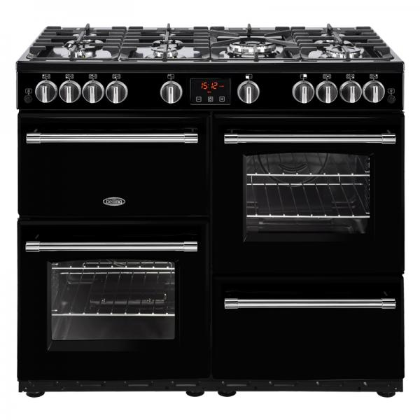 Belling 444444139 100G Black Farmhouse Gas Range Cooker