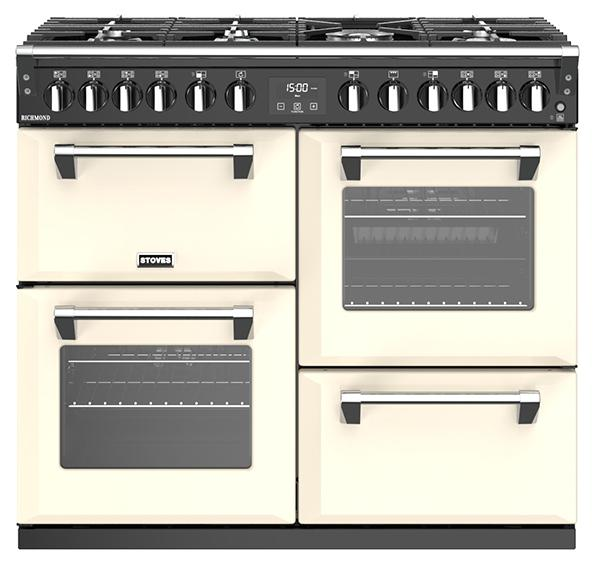 Stoves 444444452 S1000df Richmond 100cm Cream Dual Fuel