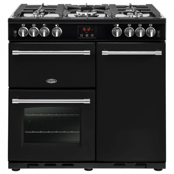 Belling 444444127 90G Black Farmhouse Gas Range Cooker