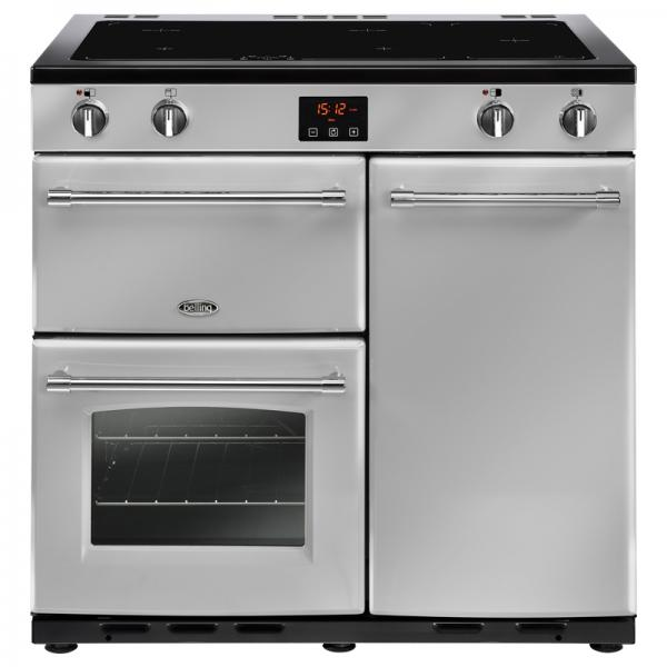 Belling 444444131 90EI Silver Farmhouse Electric Range Cooker