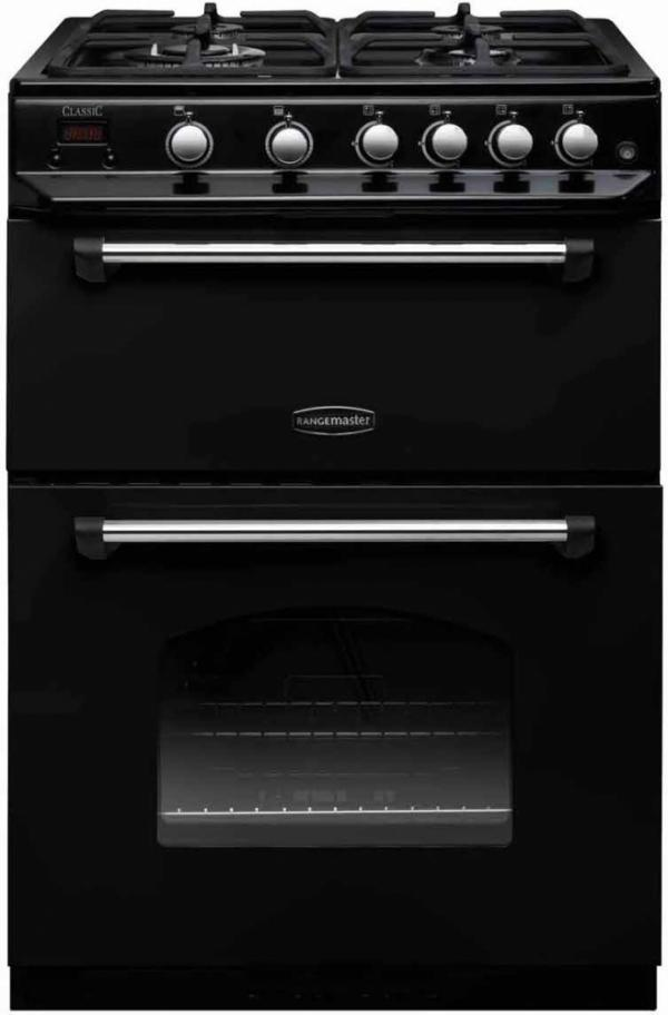 Rangemaster CLAS60NGFBL/C 107310 Classic 60cm Black Natural Gas Cooker