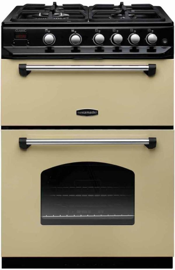 Rangemaster CLAS60NGFCR/C 107320 Classic 60cm Cream Natural Gas Cooker