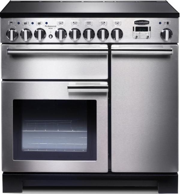 Rangemaster PDL90EISS/C 97860 Professional Deluxe 90cm Stainless Steel Induction Range Cooker