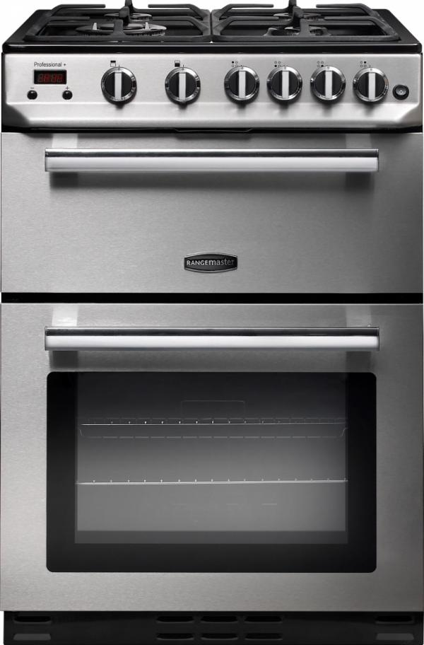 Rangemaster PROP60NGFSS/C 10728 Professional+ 60cm Stainless Steel Natural Gas Cooker