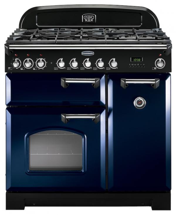 Rangemaster CDL90DFFRB/C 113530 Classic Deluxe 90cm Regal Blue Dual Fuel Range Cooker (Display)