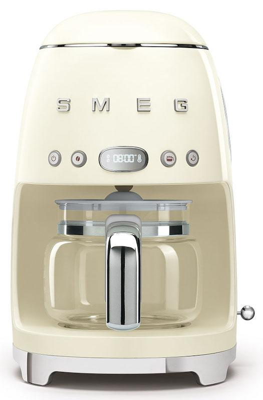 Smeg DCF02CRUK Retro 50's Cream Drip Filter Coffee Machine