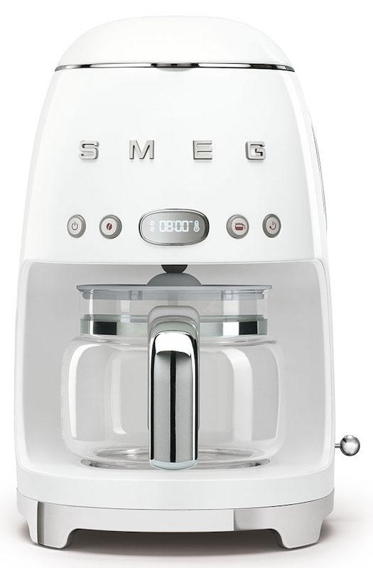 Smeg DCF02WHUK Retro 50's White Drip Filter Coffee Machine