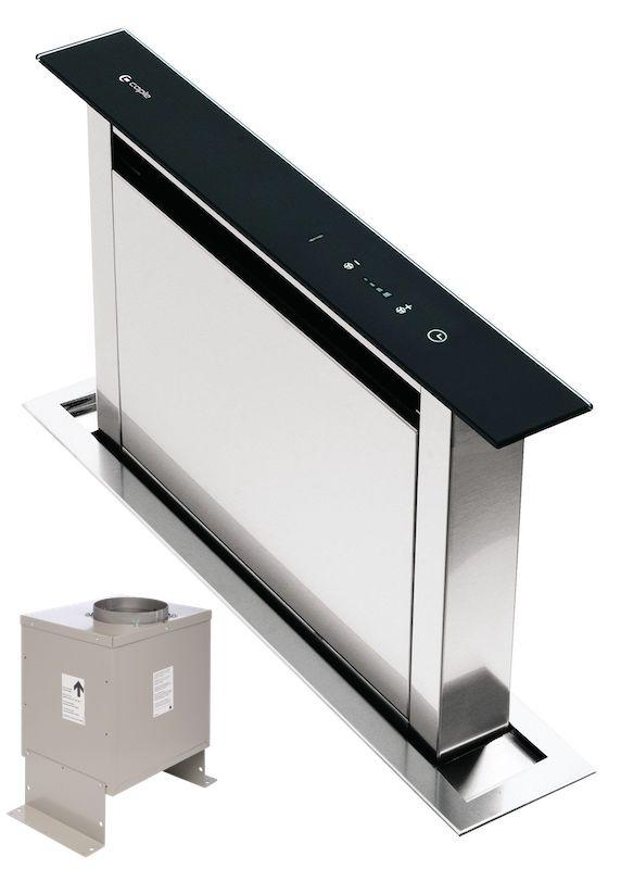 Caple DD606BK / DDMEXT21 - 58cm Downdraft Hood / Extraction Motor Pack