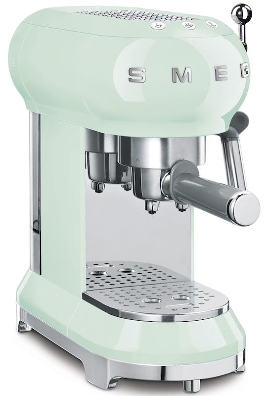 Smeg ECF01PGUK 50's Retro Pastel Green Espresso Coffee Machine
