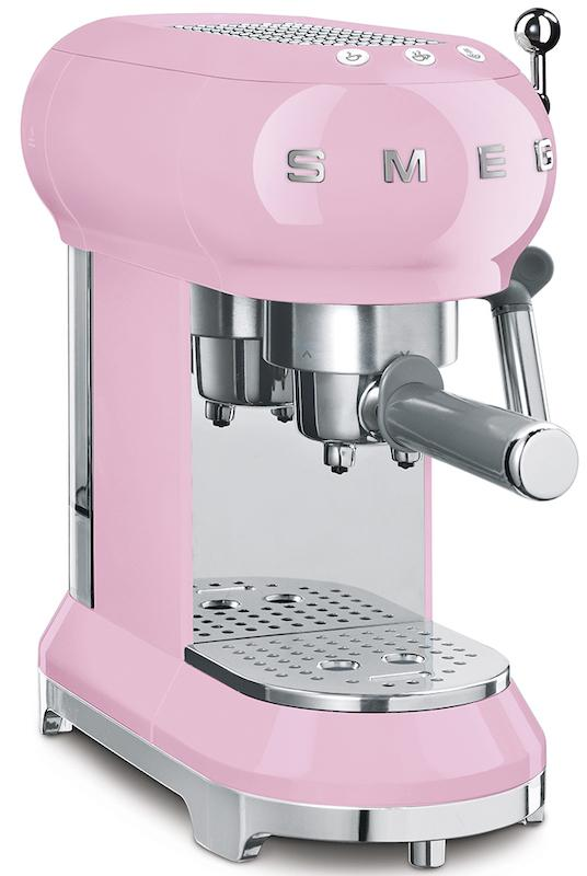 Smeg ECF01PKUK 50's Retro Pink Espresso Coffee Machine