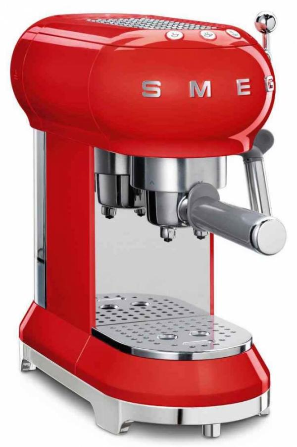 Smeg ECF01RDUK 50's Retro Red Espresso Coffee Machine