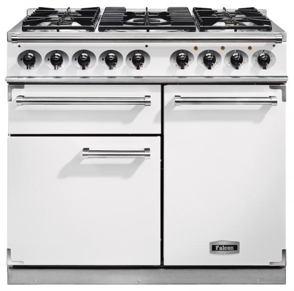 Falcon F1000DXDFWH/NM 98650 1000 Deluxe Dual Fuel White Range Cooker (Display)