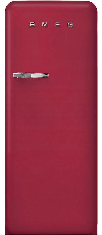 Smeg FAB28RDRB3 Retro Ruby Red Fridge with Ice Box