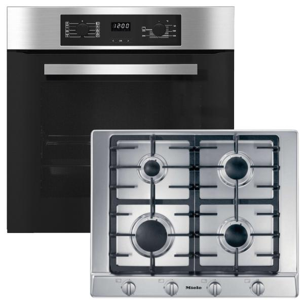 Miele 98002910 H2265B / KM2010 - Catalytic Single Oven / Gas Hob Pack