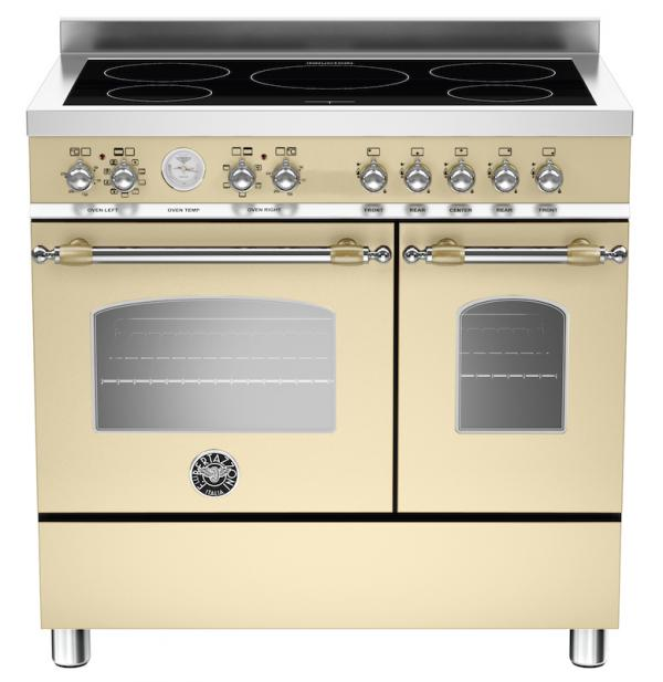 Bertazzoni HER90-5I-MFE-D-CRT 90cm Heritage Induction Range Cooker
