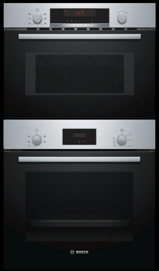 Bosch HHF113BR0B / CMA583MS0B - Single Oven / Combi Microwave Oven Pack