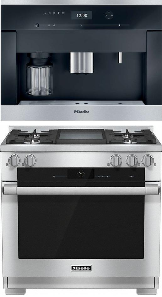 Miele 98002990 HR1936G 90cm Dual Fuel Range Cooker / Free CVA6401 Built-In Coffee Machine Pack