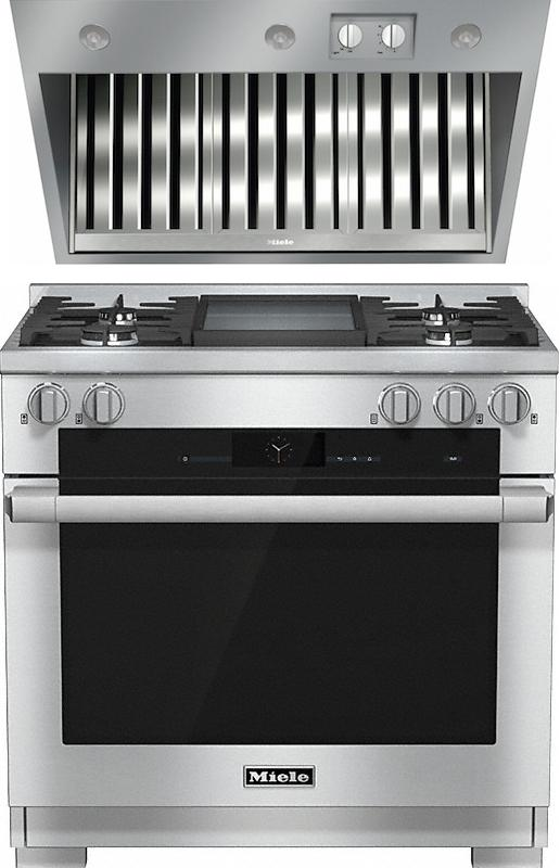 Miele 98002950 HR1936G 90cm Dual Fuel Range Cooker / Free DAR1135 Integrated Hood Pack