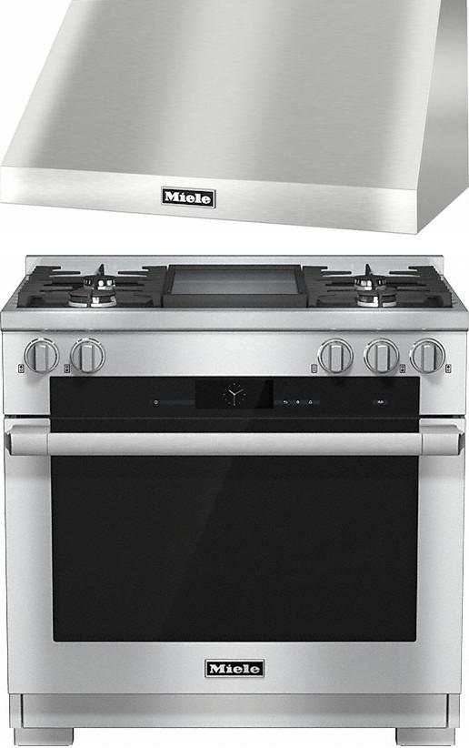 Miele 98002960 HR1936G 90cm Dual Fuel Range Cooker / Free DAR1235 Chimney Hood Pack