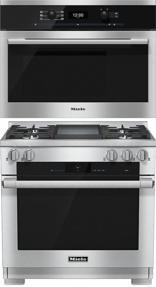 Miele 98002970 HR1936G 90cm Dual Fuel Range Cooker / Free DG6300 Steam Oven Pack
