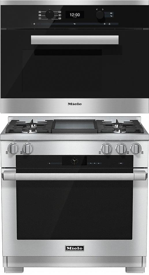 Miele 98002980 HR1936G 90cm Dual Fuel Range Cooker / Free DG6400 Steam Oven Pack