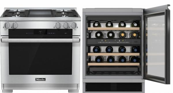 Miele 98003010 HR1936G 90cm Dual Fuel Range Cooker / Free KWT6321UG Built-Under Wine Cooler Pack